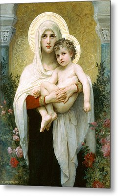 The Madonna Of The Roses Metal Print by William-Adolphe Bouguereau