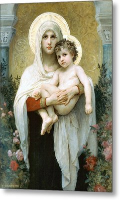 The Madonna Of The Roses Metal Print by William Bouguereau