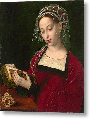 The Magdalen Reading Metal Print by Ambrosius Benson
