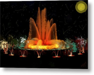 The Magic Fountain Metal Print by Bruce Nutting