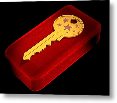 The Key To Happiness Metal Print