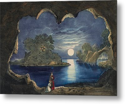 The Magic Lake Circa 1856  Metal Print by Aged Pixel