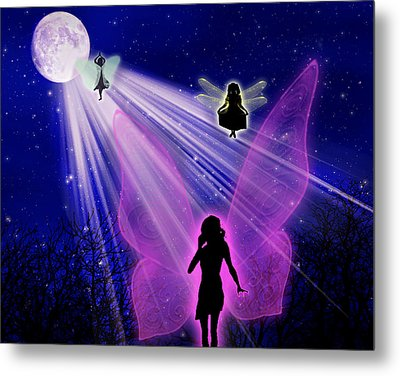 Metal Print featuring the painting The Magic Of The Moon by Persephone Artworks