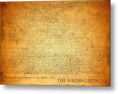 The Magna Carta 1215 Metal Print by Design Turnpike