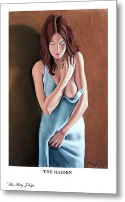 Metal Print featuring the pastel The Maiden Prints Only by Joseph Ogle