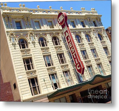 Metal Print featuring the photograph The Majestic Theater Dallas #1 by Robert ONeil