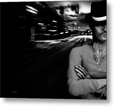 The Man In The Hat Returns Metal Print