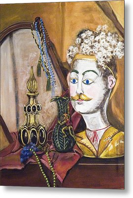 Metal Print featuring the painting The Man In The Mirror by Susan Culver