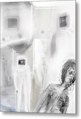 The Man In The Window Metal Print by Rc Rcd