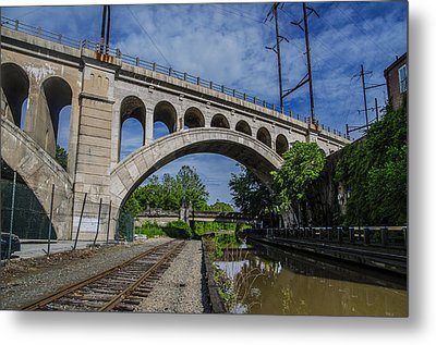 The Manayunk Canal And Bridge - Philadelphia Metal Print