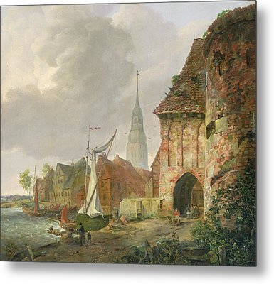 The March Gate In Buxtehude Metal Print by Adolph Kiste