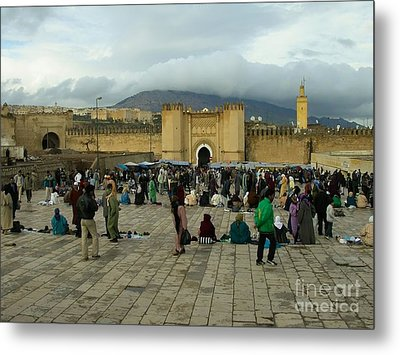The Market In Fez Metal Print by Sophie Vigneault