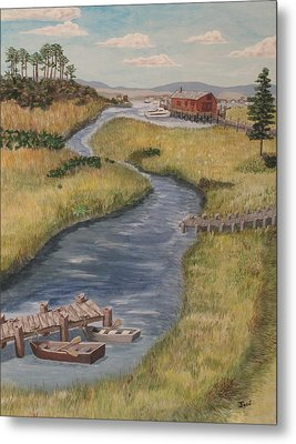 The Marshes Metal Print by Hilda and Jose Garrancho