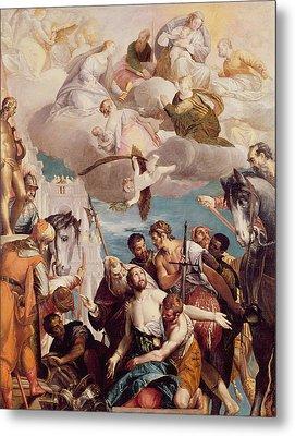 The Martyrdom Of Saint George Metal Print by Veronese