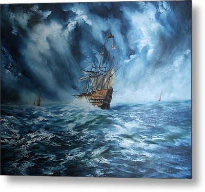 The Mary Rose And Fleet Metal Print
