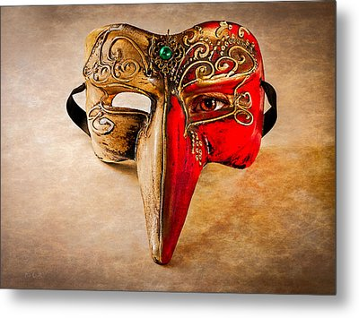 The Mask On The Floor Metal Print by Bob Orsillo