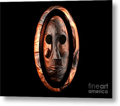 Metal Print featuring the digital art The Mask Series 1 by Jacqueline Lloyd