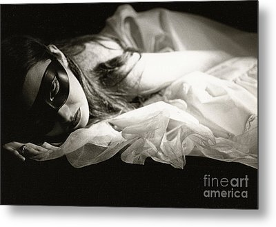 The Masked Woman Metal Print by Sharon Coty