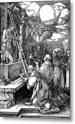 The Mass Of St. Gregory Metal Print by Albrecht Duerer