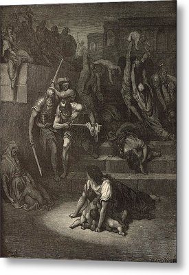 The Massacre Of The Innocents Metal Print by Antique Engravings