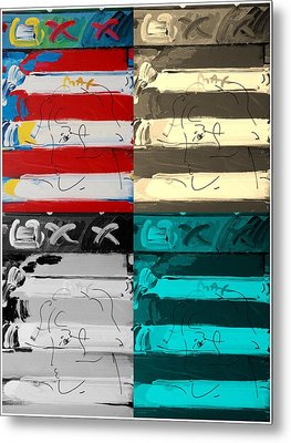 The Max Face In Quad Colors Metal Print by Rob Hans