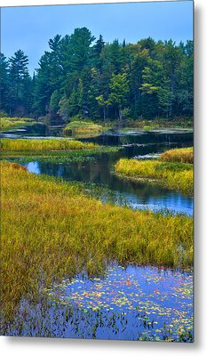 The Meandering Moose River - Old Forge New York Metal Print by David Patterson