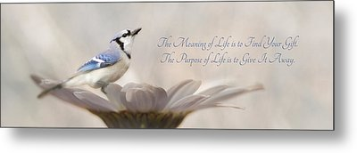 The Meaning Of Life Metal Print by Lori Deiter