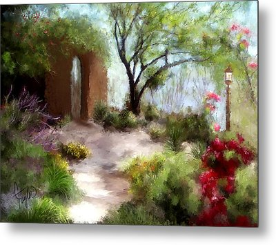 The Meditative Garden  Metal Print by Colleen Taylor