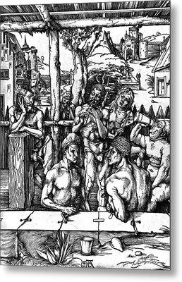The Mens Bath Metal Print by Albrecht Durer or Duerer