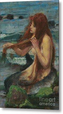 The Mermaid Metal Print by John William Waterhouse