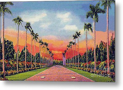 The Miami Jockey Club In Hialeah Fl Metal Print