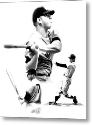 The Mick  Mickey Mantle Metal Print by Iconic Images Art Gallery David Pucciarelli