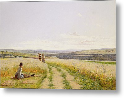 The Midday Rest  Metal Print by Jean F Monchablon