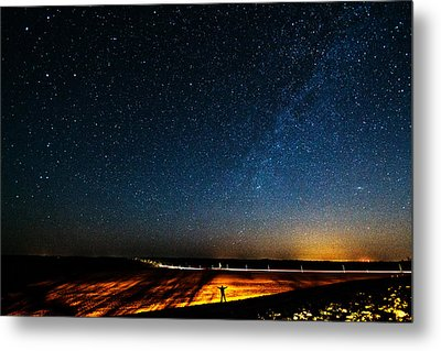 The Milky Way And My Shadow Metal Print