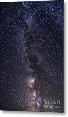 The Milky Way From Phippsburg Maine Usa Metal Print by Patrick Fennell