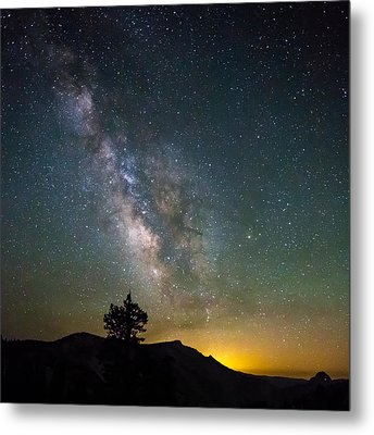 The Milky Way Meets The Aspen Fire Metal Print
