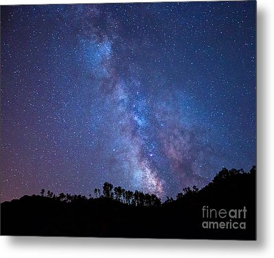 The Milky Way Over The Mountain Metal Print