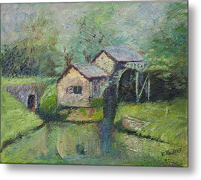 The Mill In The Mist Metal Print by William Killen