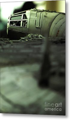The Millennium Falcon Metal Print by Micah May