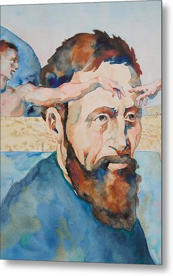 The Mind Of Michelangelo Metal Print by Michele Myers