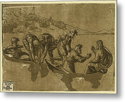 The Miraculous Draught Of Fishes, Between 1500 And 1530 Metal Print