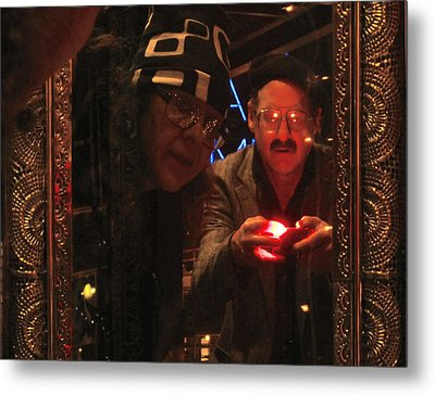 The Mirror Has A Glow Metal Print by Kym Backland
