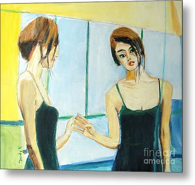 The Mirror Has Two Faces Metal Print by Judy Kay