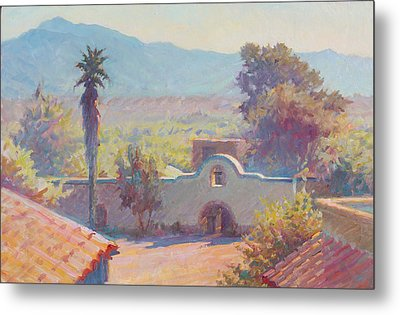The Mission At Tubac Metal Print by Ernest Principato