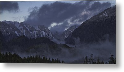 Metal Print featuring the pyrography The Mist by Timothy Latta