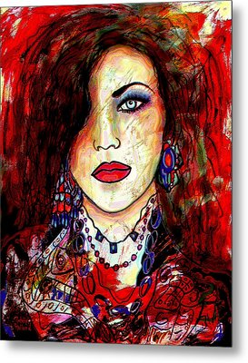 The Model Metal Print by Natalie Holland