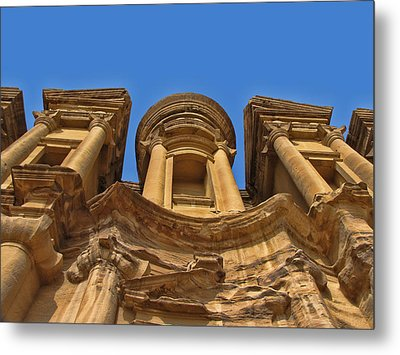 Metal Print featuring the photograph The Monastery In Petra by David Gleeson