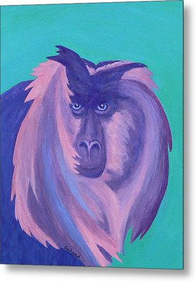 Metal Print featuring the painting The Monkey's Mane by Margaret Saheed