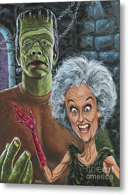 The Monster And His More Intelligent Mate Metal Print by Mark Tavares