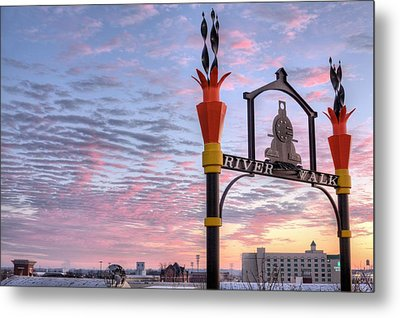 The Montgomery River Walk Metal Print